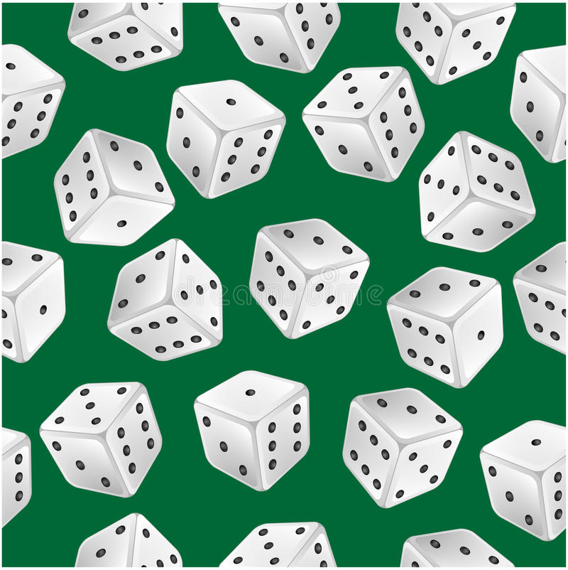 Download Seamless pattern of dice stock vector. Illustration of illustration - 31117637