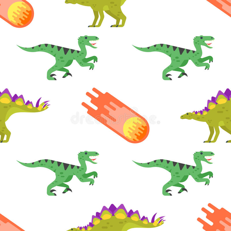 Seamless pattern with dinosaurs. royalty free illustration