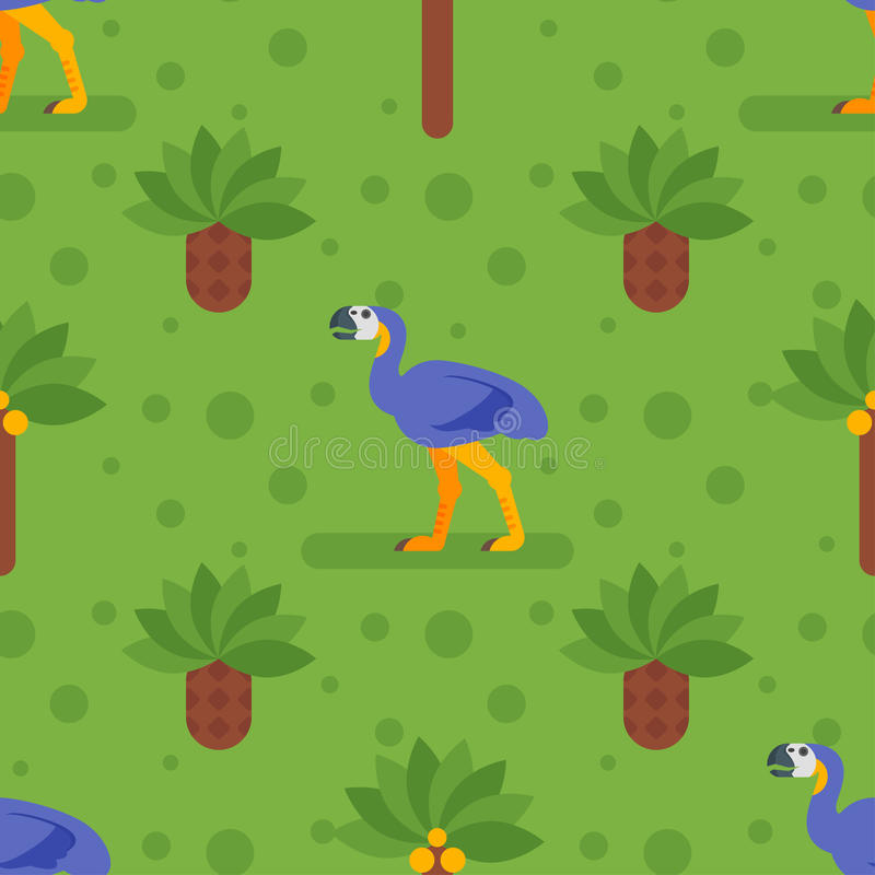 Seamless pattern with dinosaurs. vector illustration