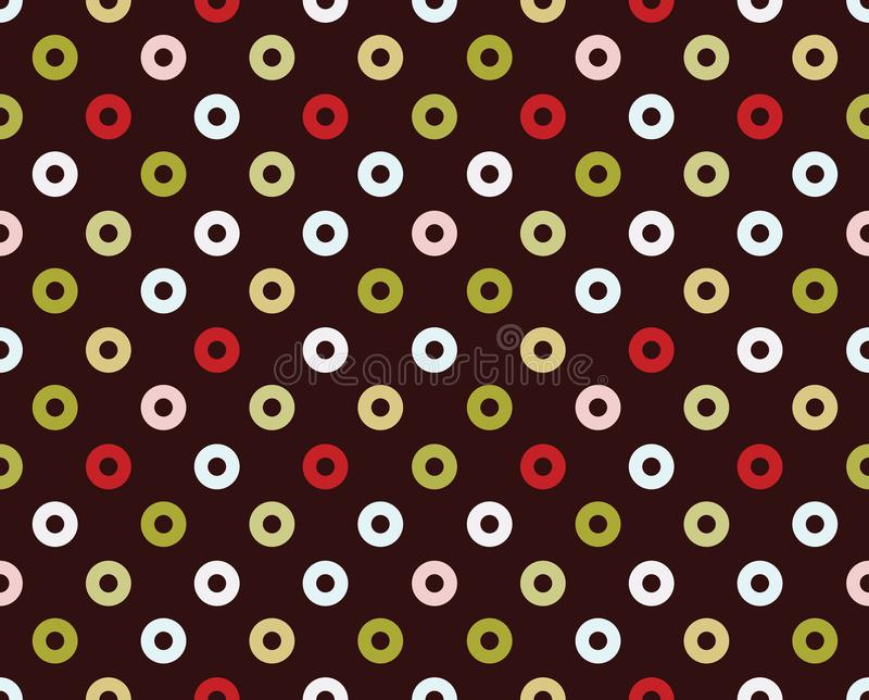 Seamless pattern of donuts royalty free stock images