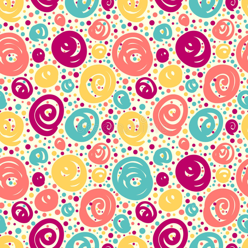 Seamless pattern with doodle dots. stock illustration