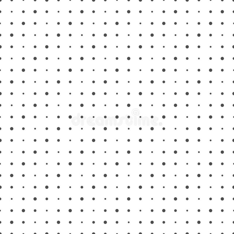 Seamless pattern of dots. Geometric dotted wallpaper. royalty free illustration