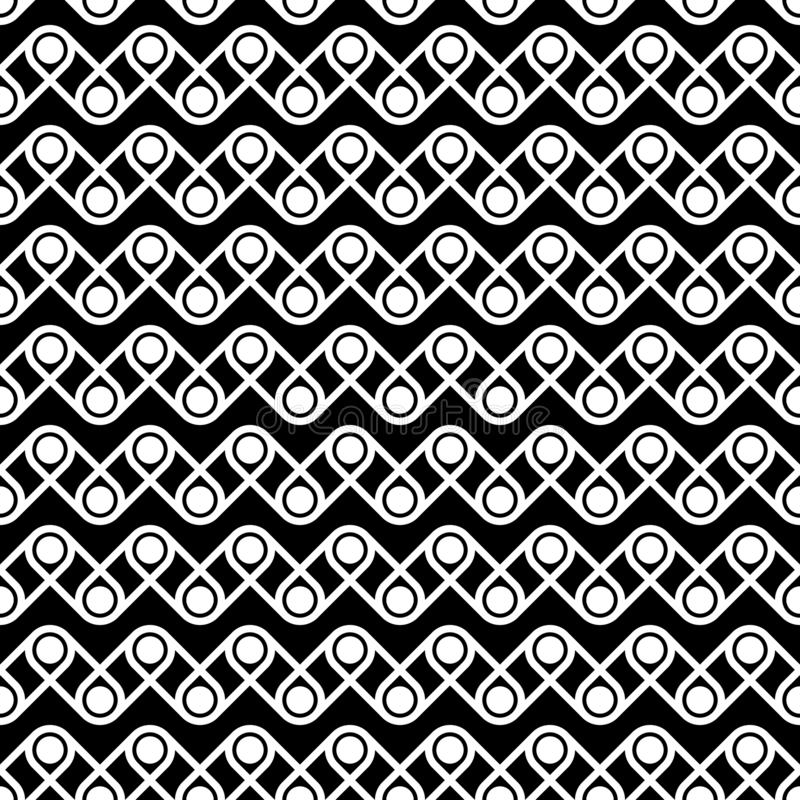 Seamless pattern of dots and lines. Geometric background. vector illustration