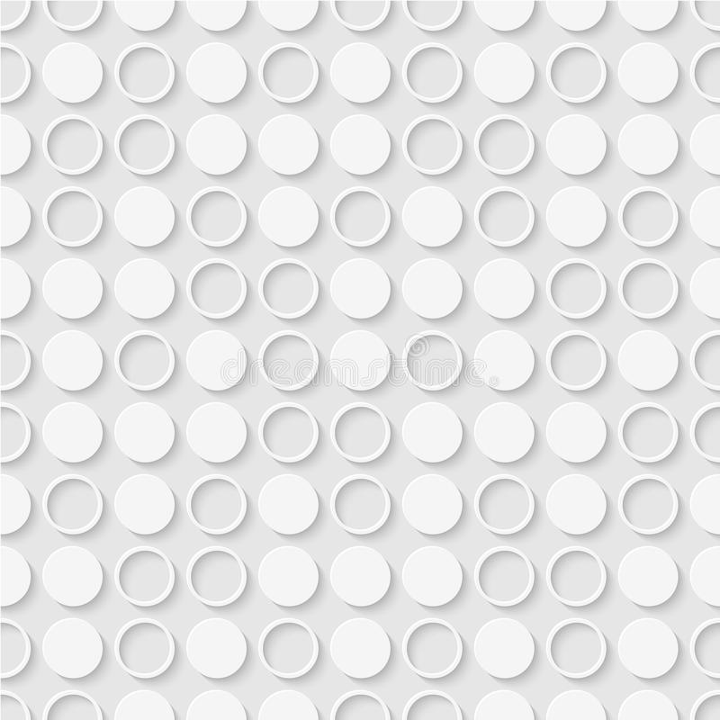 Seamless pattern of dots and rings. Geometric dotted wallpaper. stock illustration