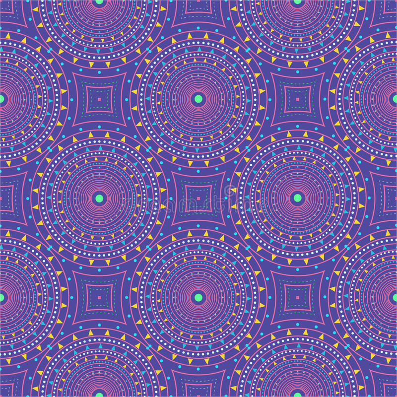 Seamless pattern with dotted circles. Vector repeating texture. Stylish background stock photography