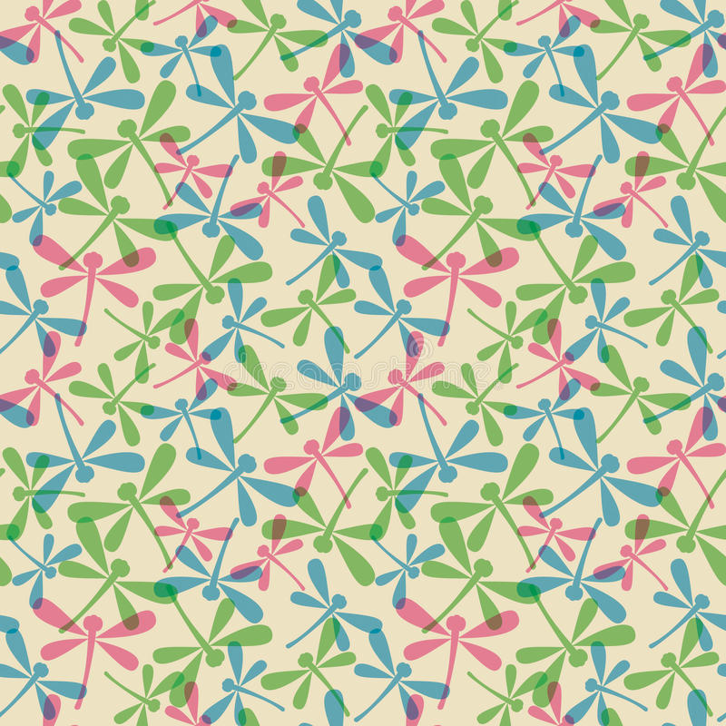 Download Seamless Pattern With Dragonflies Stock Vector - Image: 16875375