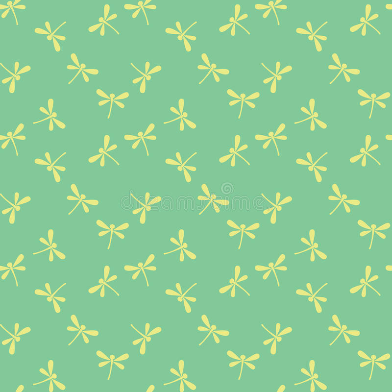 Download Seamless Pattern With Dragonflies Stock Vector - Image: 16957925