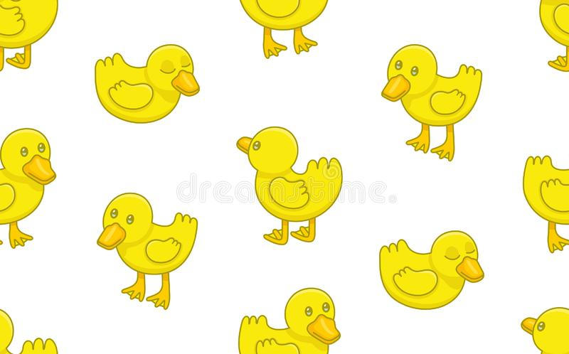 Seamless Pattern with Ducklings vector illustration