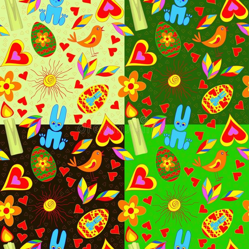 Seamless_pattern_Easter royaltyfria foton