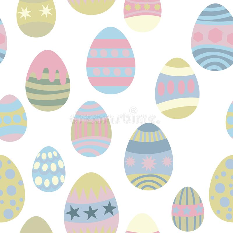 Seamless pattern for easter eggs vector illustration