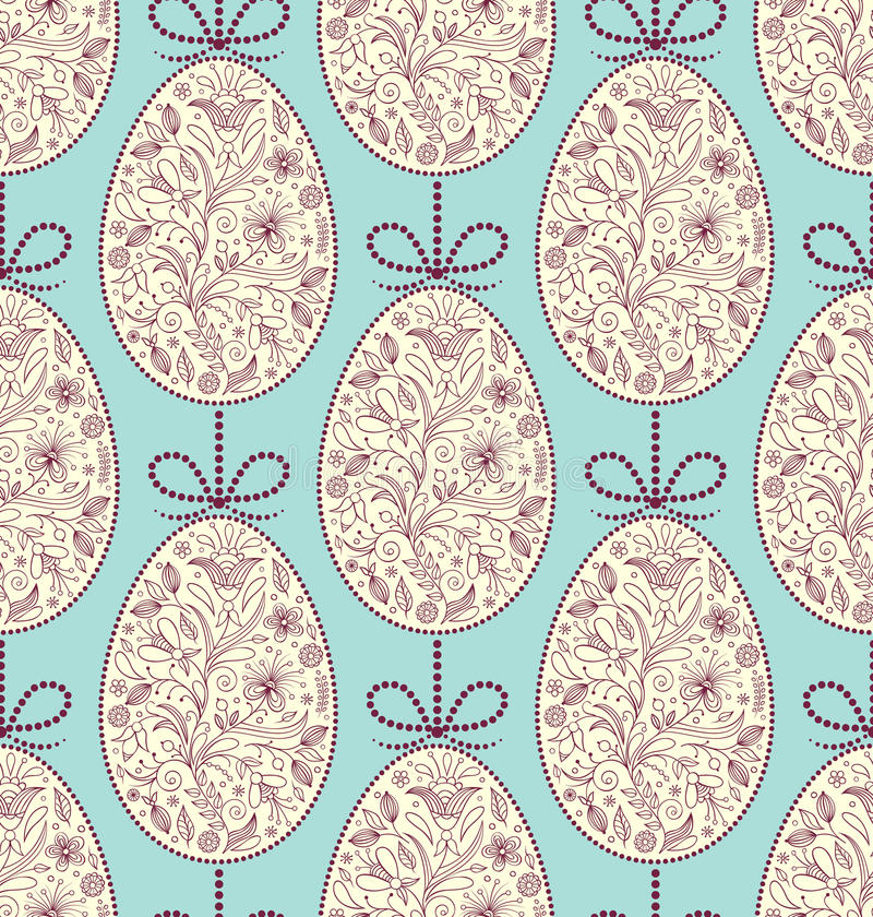 Seamless Pattern With Easter Eggs Royalty Free Stock Photography