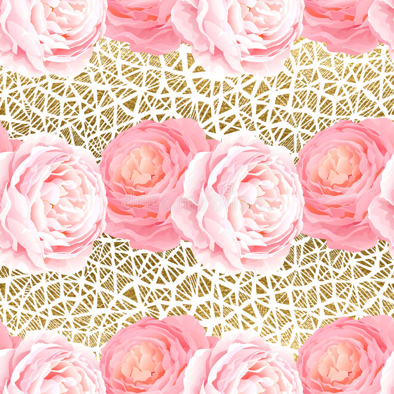 Seamless pattern with elegance color pink roses. vector illustration