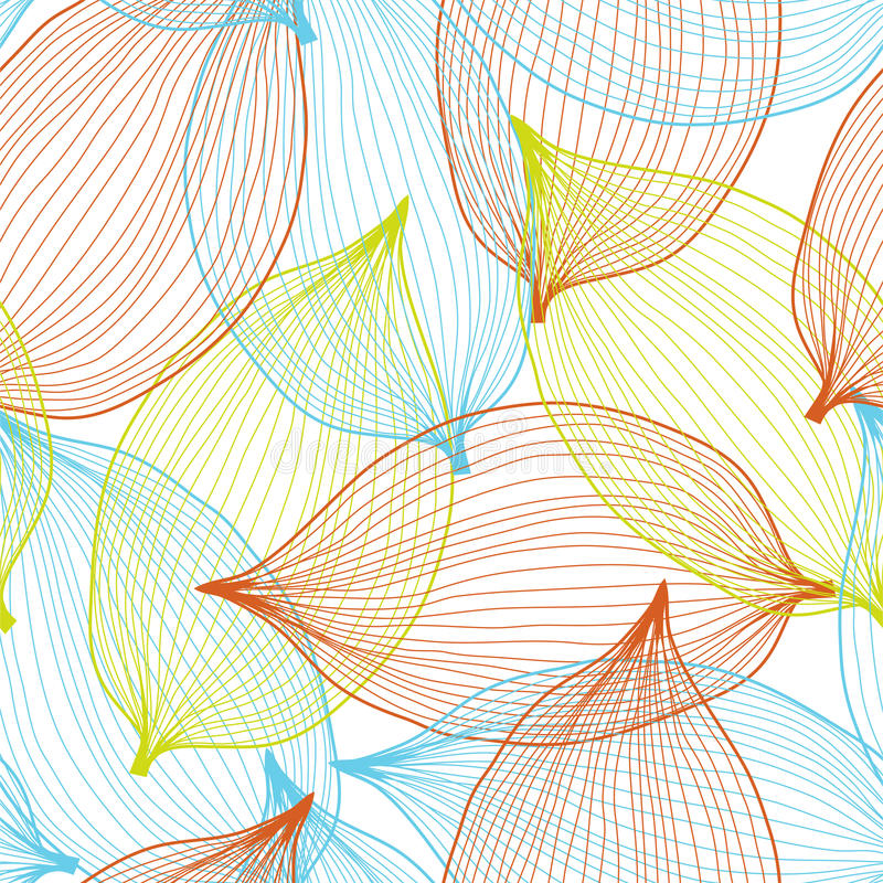 Seamless pattern. Elegant seamless pattern with abstract leaves for your design stock illustration