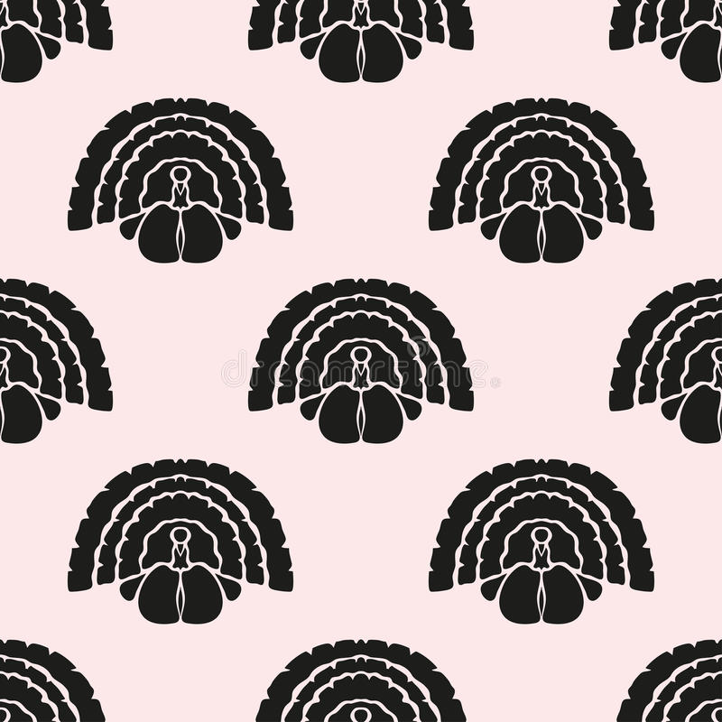 Seamless pattern. Elegant seamless pattern with abstract turkey symbols, design elements. Can be used for invitations, greeting cards, scrapbooking, print, gift stock illustration