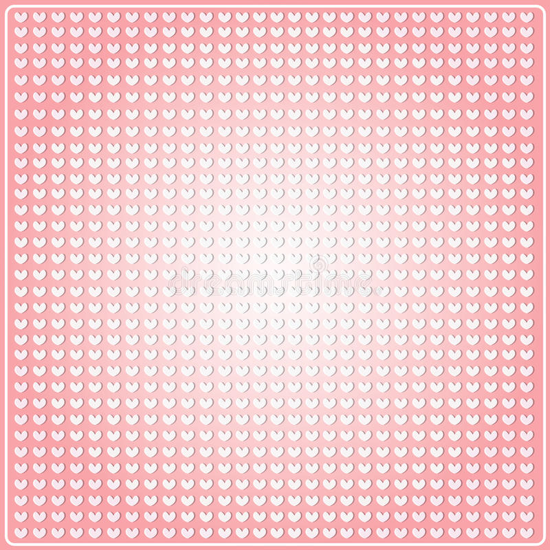 Seamless pattern in the embossed heart royalty free illustration