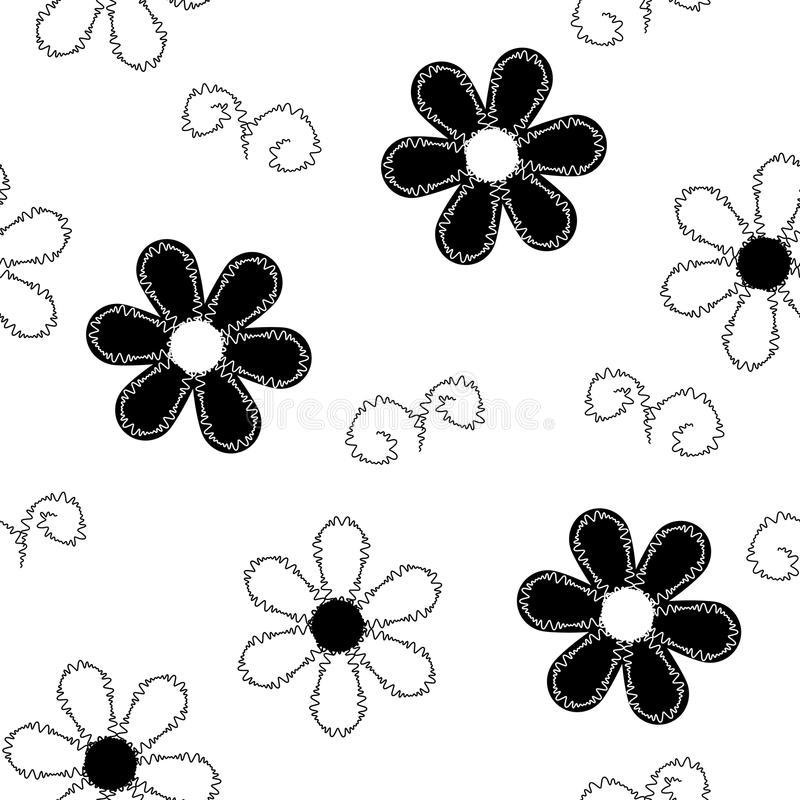 Seamless pattern of embroidered lace royalty free illustration