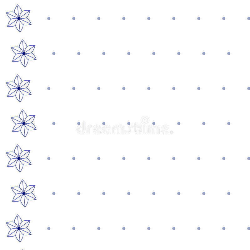 Seamless Pattern - equal ranks florets and small circles. Equal ranks florets and small circles royalty free illustration