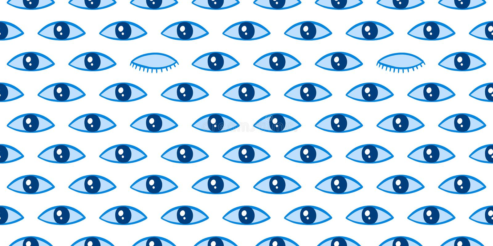 Seamless pattern with eyes magical pattern. Mystical icon hand drawn print. Cartoon style, sign esoteric, inspiration eye. Vector illustration royalty free stock image