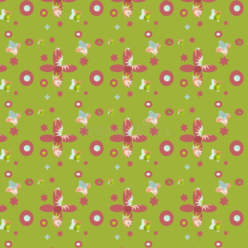 Seamless pattern, fabric with colorful shapes. royalty free stock images