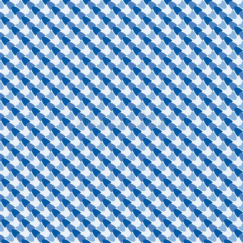 Seamless pattern for fabrics, intersecting cells of pastel colors royalty free illustration