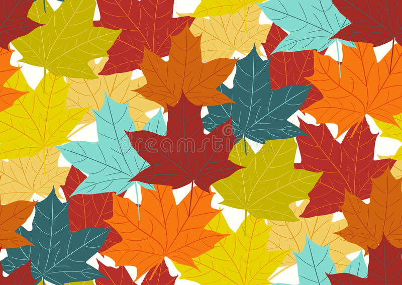 Seamless pattern with fall maple leaves. Vector illustration vector illustration