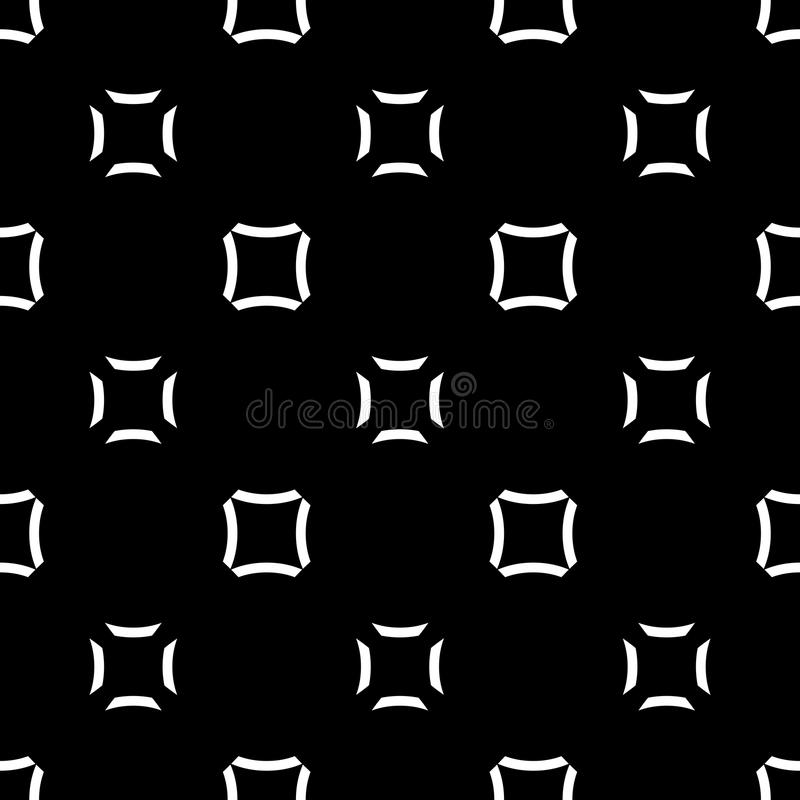 Seamless pattern, fashion geometric texture. Vector minimalist seamless pattern, fashion geometric monochrome texture in black & white colors. Abstract stock illustration