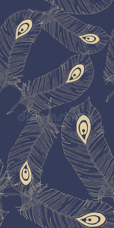 Download Seamless Pattern With Feathers Stock Vector - Image: 24470152