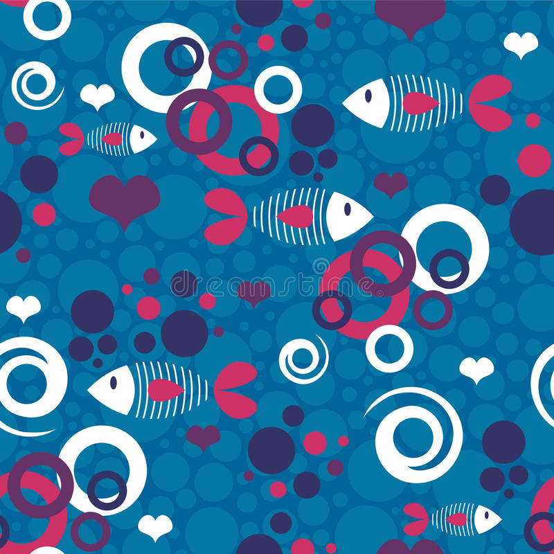 Download Seamless pattern with fish stock vector. Image of cute - 28537916