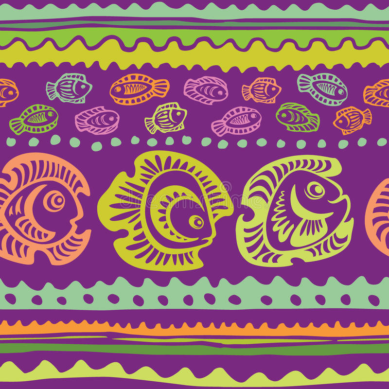 Seamless pattern with fish stock illustration