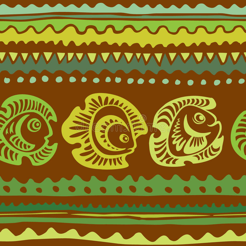 Seamless pattern with fish vector illustration