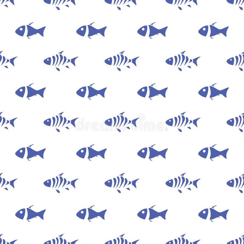 Seamless pattern of fish stock illustration