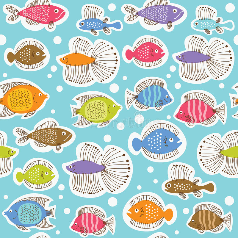 Download Seamless Pattern With Fishes Stock Vector - Illustration of fantasy, cartoon: 20065808
