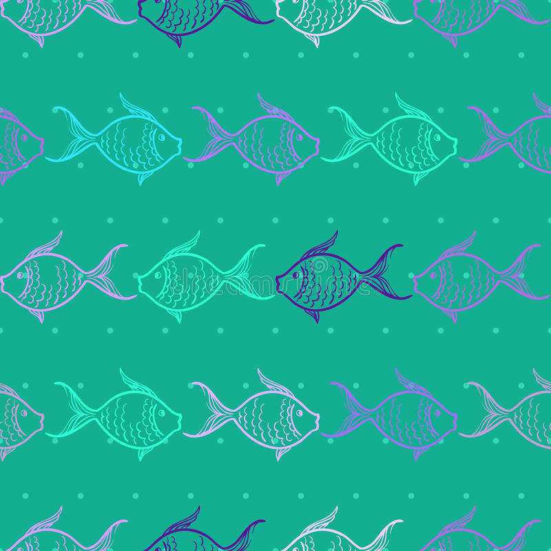 Download Seamless Pattern With Fishes Stock Vector - Image: 26995537