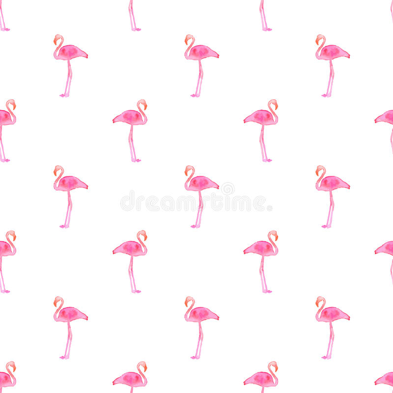 Seamless pattern with flamingos. Hand-drawn background. Vector illustration. vector illustration
