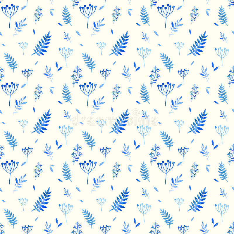 Seamless pattern of floral elements. vector illustration