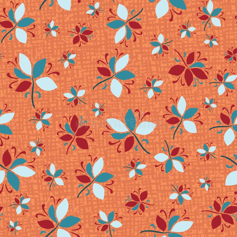 Free Seamless Pattern Floral Ethnic Leaf Motif Persian Style. Hand Drawn Folk Art Nature Textile. Modern Leaves Home Decor. Traditional Royalty Free Stock Photos - 163347618