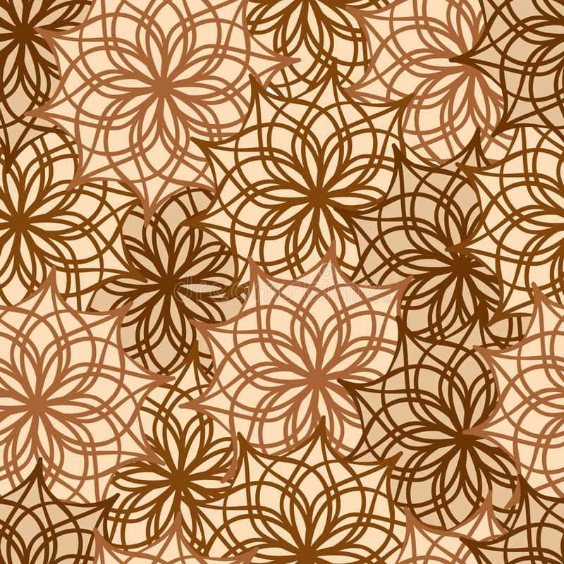 Seamless pattern with floral ornamental vector illustration