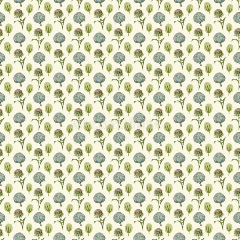Seamless pattern floral paper wallpaper. Seamless floral pattern paper wallpaper for your next project stock photography