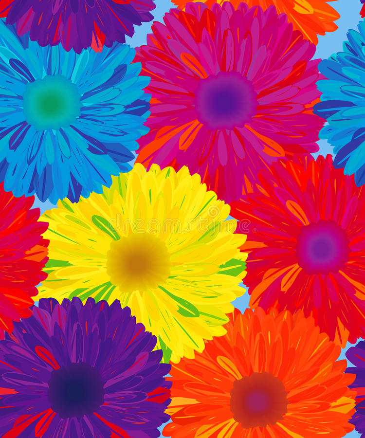 Seamless Pattern Flower. Royalty Free Stock Photography