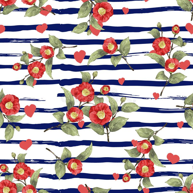Free Seamless Pattern Flower And Background Fashionable Print.Fashion And Stylish Background Stock Images - 185978724