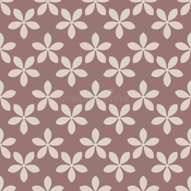 Seamless pattern with flower element. Brown and beige abstract wallpaper stock illustration