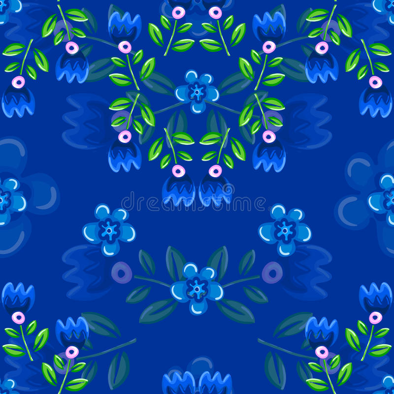 Seamless Pattern with Flower and leaf. Seamless Abstract Pattern with Flower and leaf vector illustration