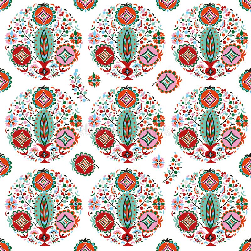 Seamless pattern flower vase. royalty free stock image