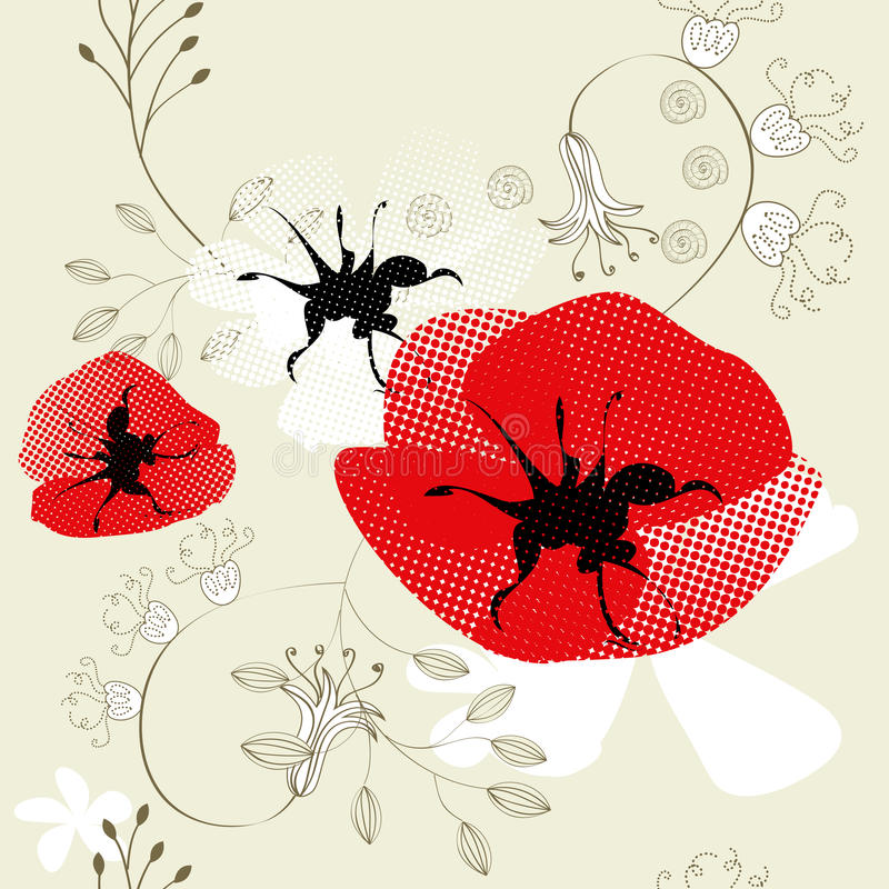 Download Seamless Pattern With Flowers Stock Vector - Image: 13333250