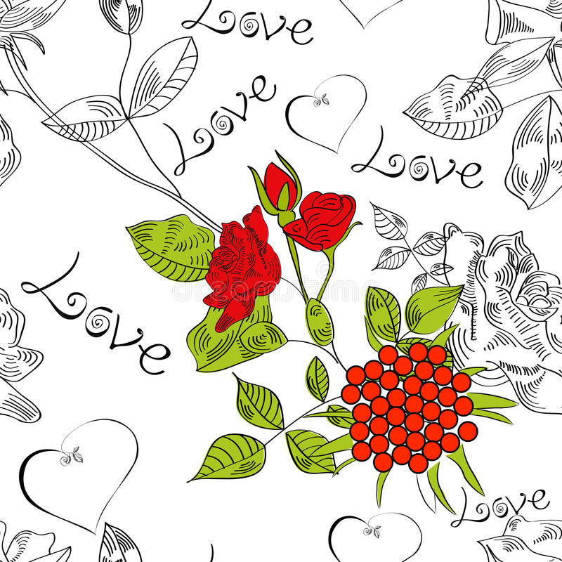 Download Seamless Pattern With Flowers Stock Vector - Illustration: 13411390