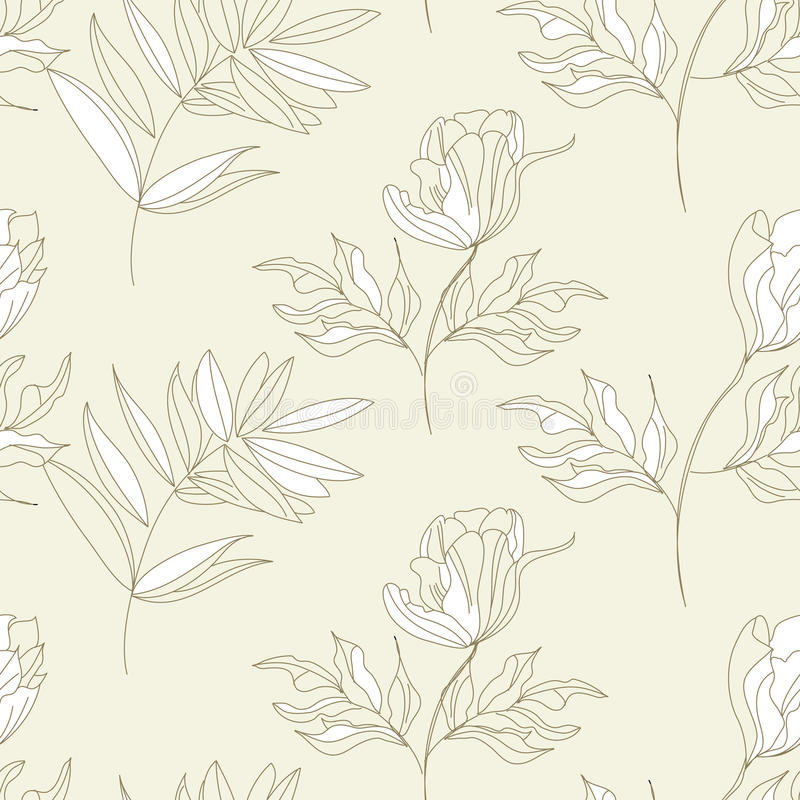 Download Seamless Pattern With Flowers Stock Vector - Image: 14929300