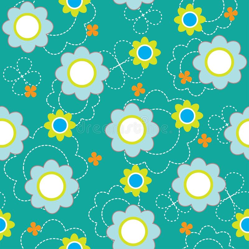 Download Seamless Pattern With Flowers Stock Vector - Image: 21790951