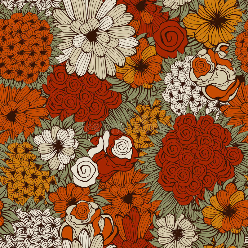 Download Seamless  Pattern With  Flowers Stock Vector - Illustration of design, fantasy: 26460104