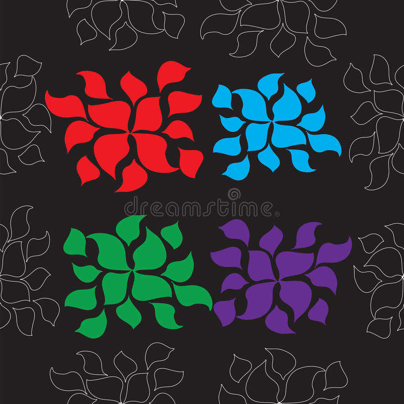Seamless pattern with flowers royalty free stock images