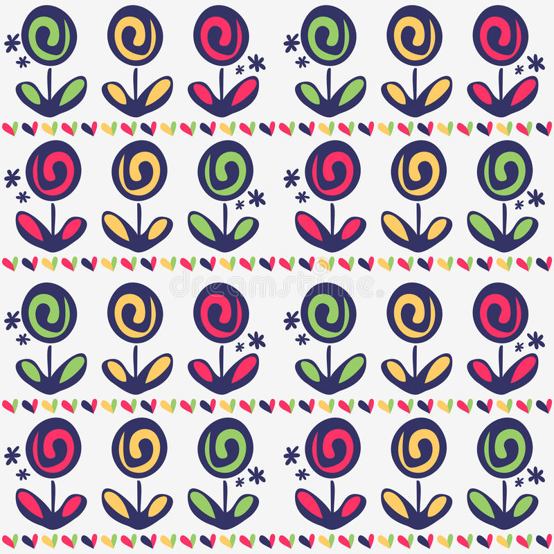 Download Seamless Pattern With Flowers Stock Vector - Image: 27665578